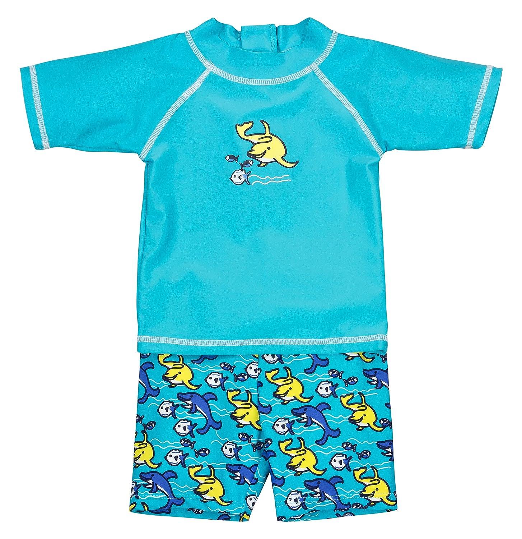 Landora®: Baby- / Kleinkinder-Badebekleidung 2er Set mit UV-Schutz 50+ und Oeko-Tex 100 Zertifizierung in blau oder türkis