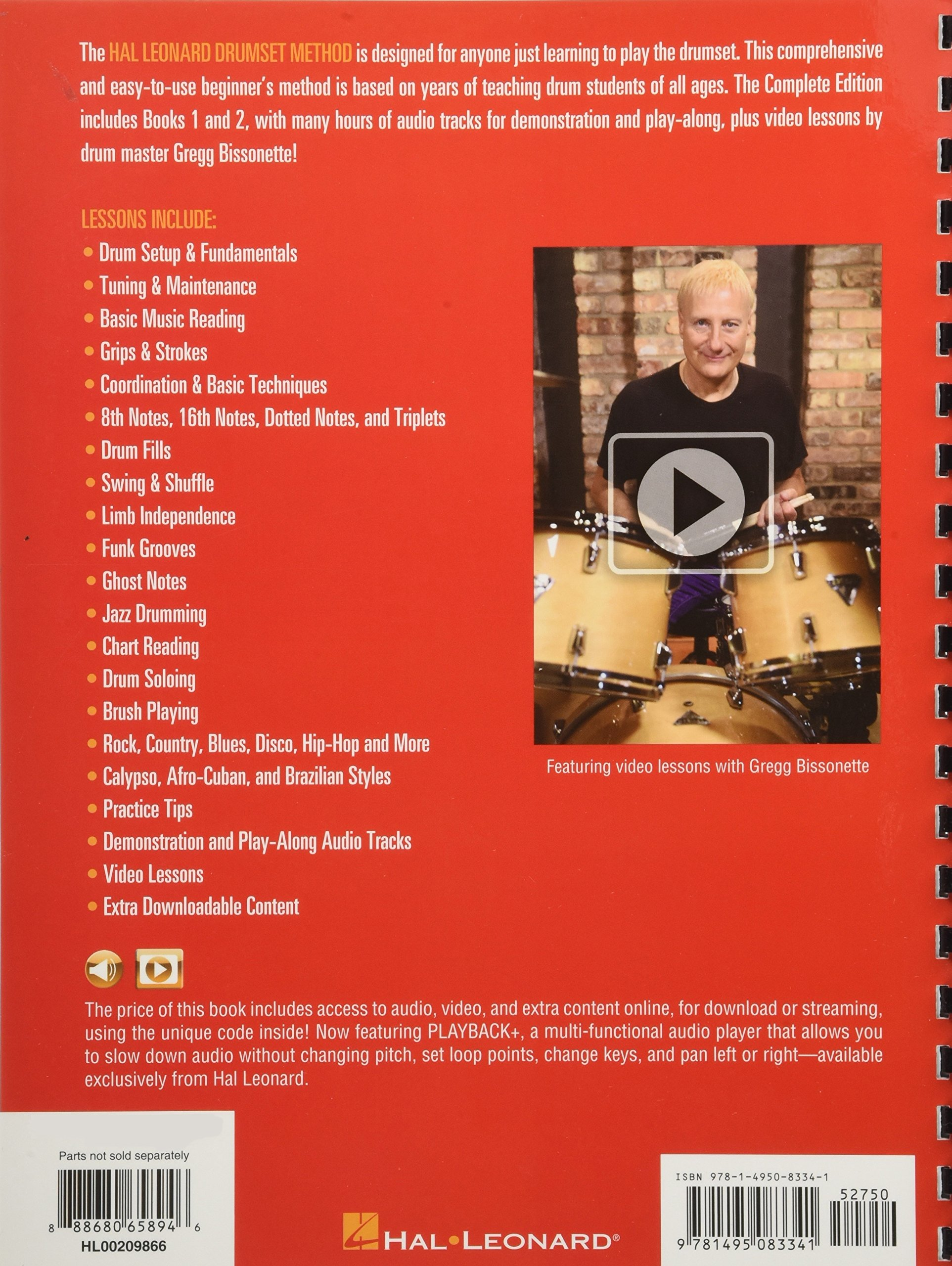 Hal Leonard Drumset Method - Complete Edition: Books 1 & 2 with