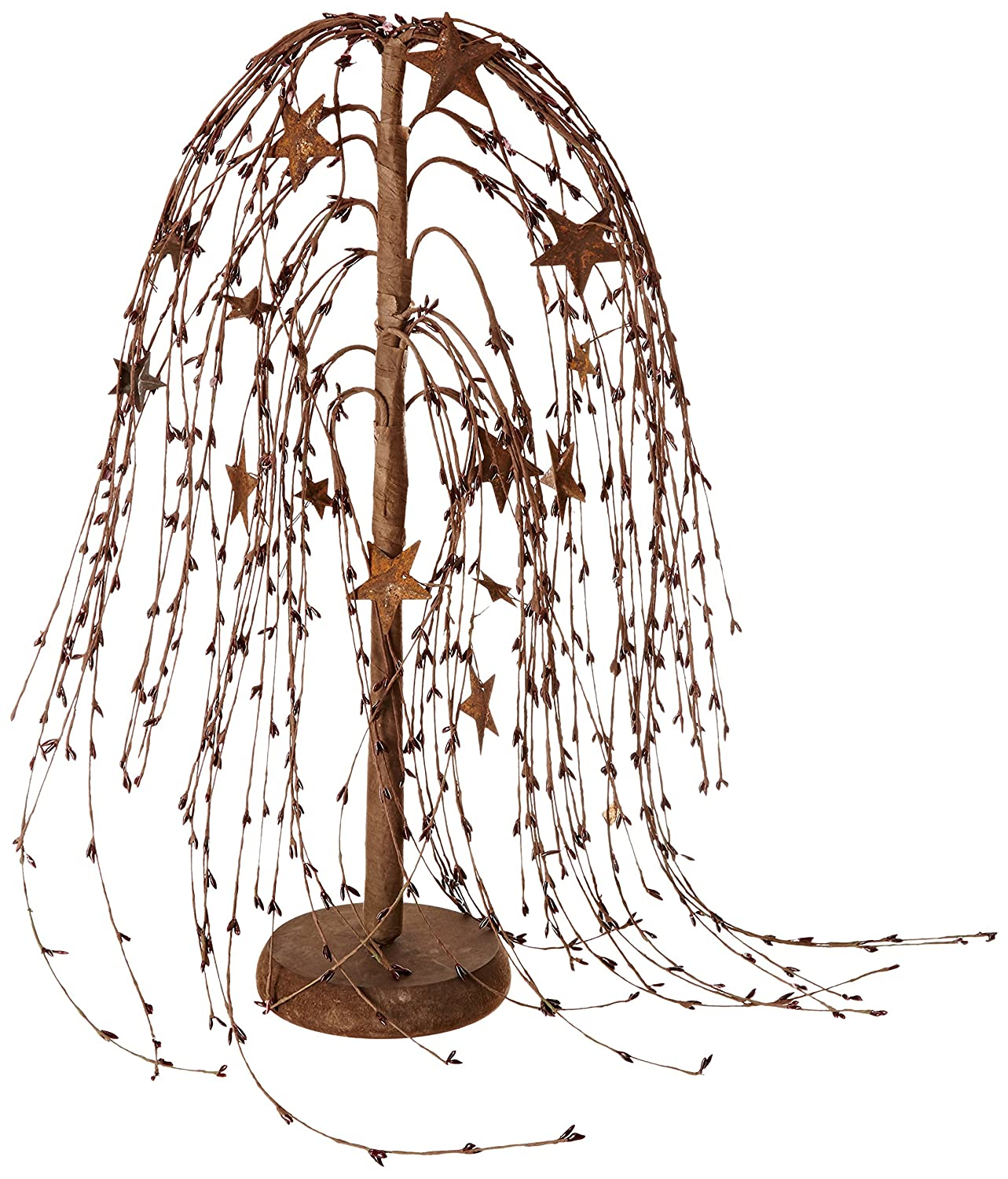 18-Inch CWI Gifts Willow Tree Burgundy//Stars
