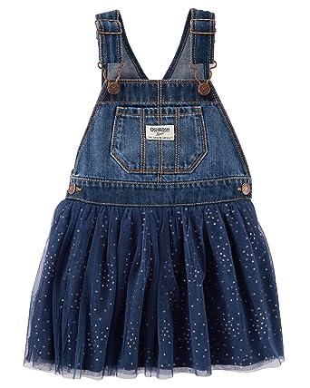 ca3813e5b468 Amazon.com  OshKosh B Gosh Girls  2T-4T Denim and Tulle Jumper  Clothing