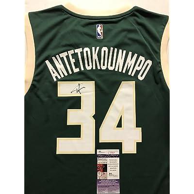 Autographed Signed Giannis Antetokounmpo Milwaukee Bucks Green Size L  Basketball Jersey JSA COA 860a7d062