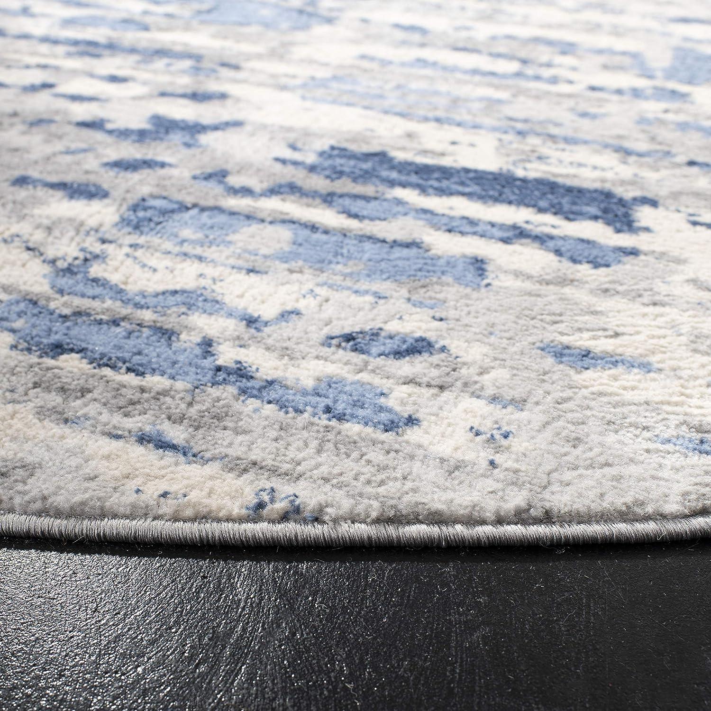 Safavieh Jasper Collection JSP107G Grey and Blue Area Rug 5 Round