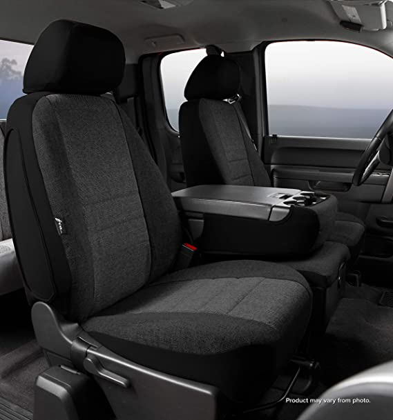 Front Bucket Seats-Tweed Gray FIA OE39-55 Custom Fit Cover