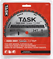 Task Tools T22658 6-1/2-Inch Thin Cut Series Carbide Saw Blade with 5/8-Inch Arbor