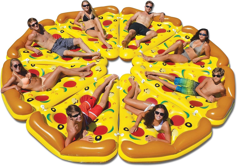 Amazon.com: Swimline 8-Piece Conjunto Pizza inflable piscina ...
