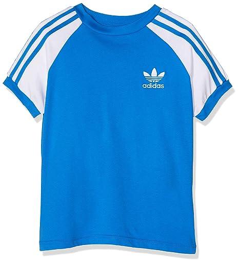 adidas California – Camiseta, Niños, DN8504, Azul y Blanco, 128