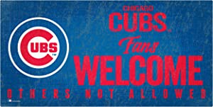 MLB Chicago Cubs Unisex Chicago Cubs Fans Welcome Sign, Team Color, 6 x 12