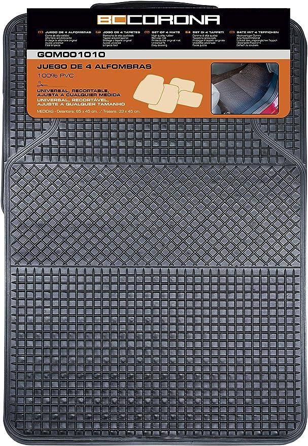 Bccorona Gom001010 Universal Teppichgummi 4 Stück Schwarz Set Of 4 Auto