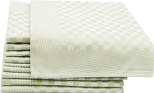 ZOLLNER 10 Trapos de Cocina, algodón, a Cuadros Verdes, 46x70 ...