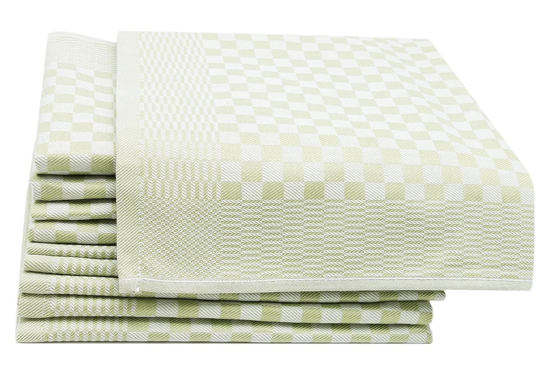 ZOLLNER 10 Trapos de Cocina, algodón, a Cuadros Verdes, 46x70 cm: Amazon.es: Hogar