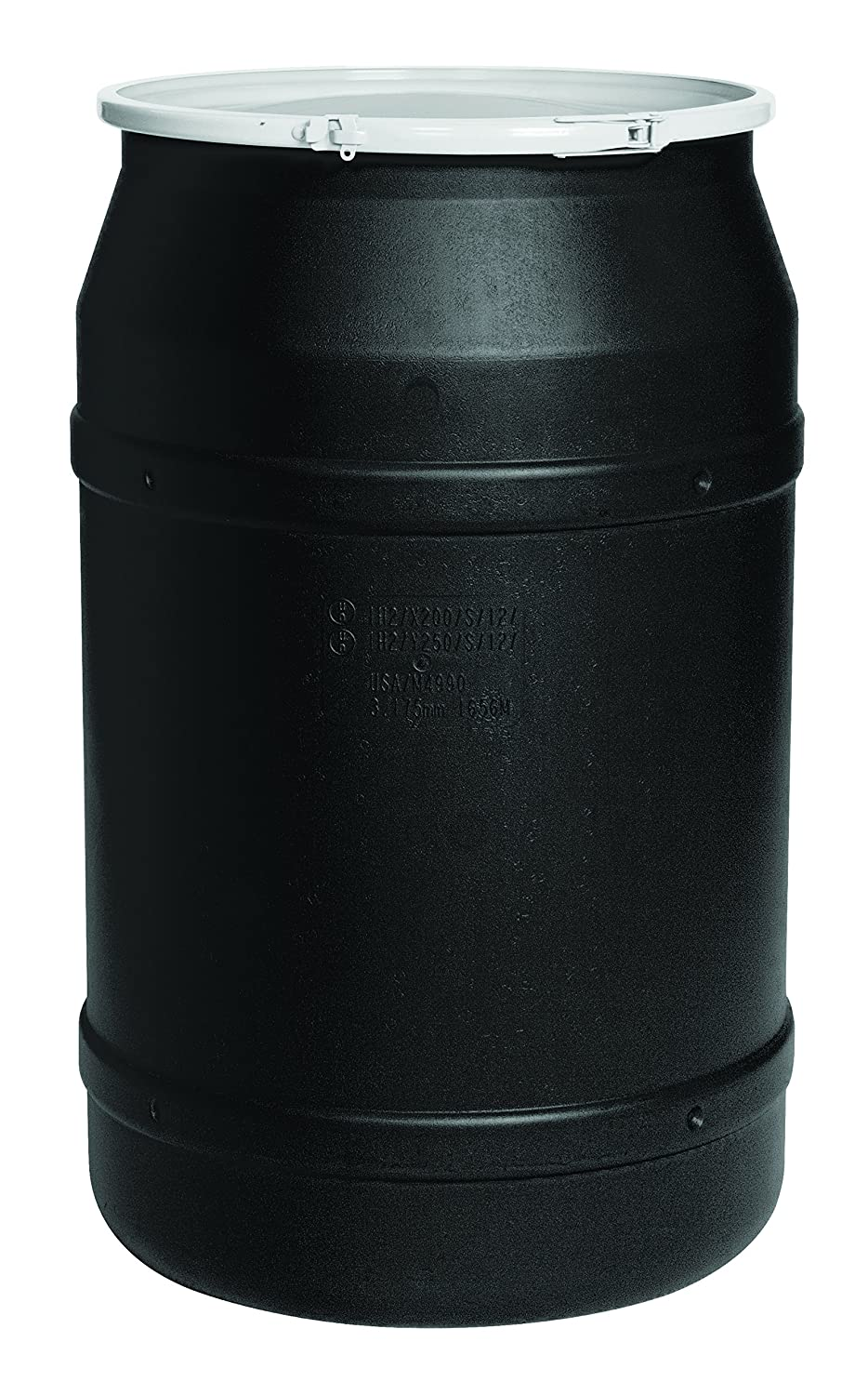 Amazon.com: Eagle 1656BLK Black Drum with Poly Lever Lock Ring, 55 ...