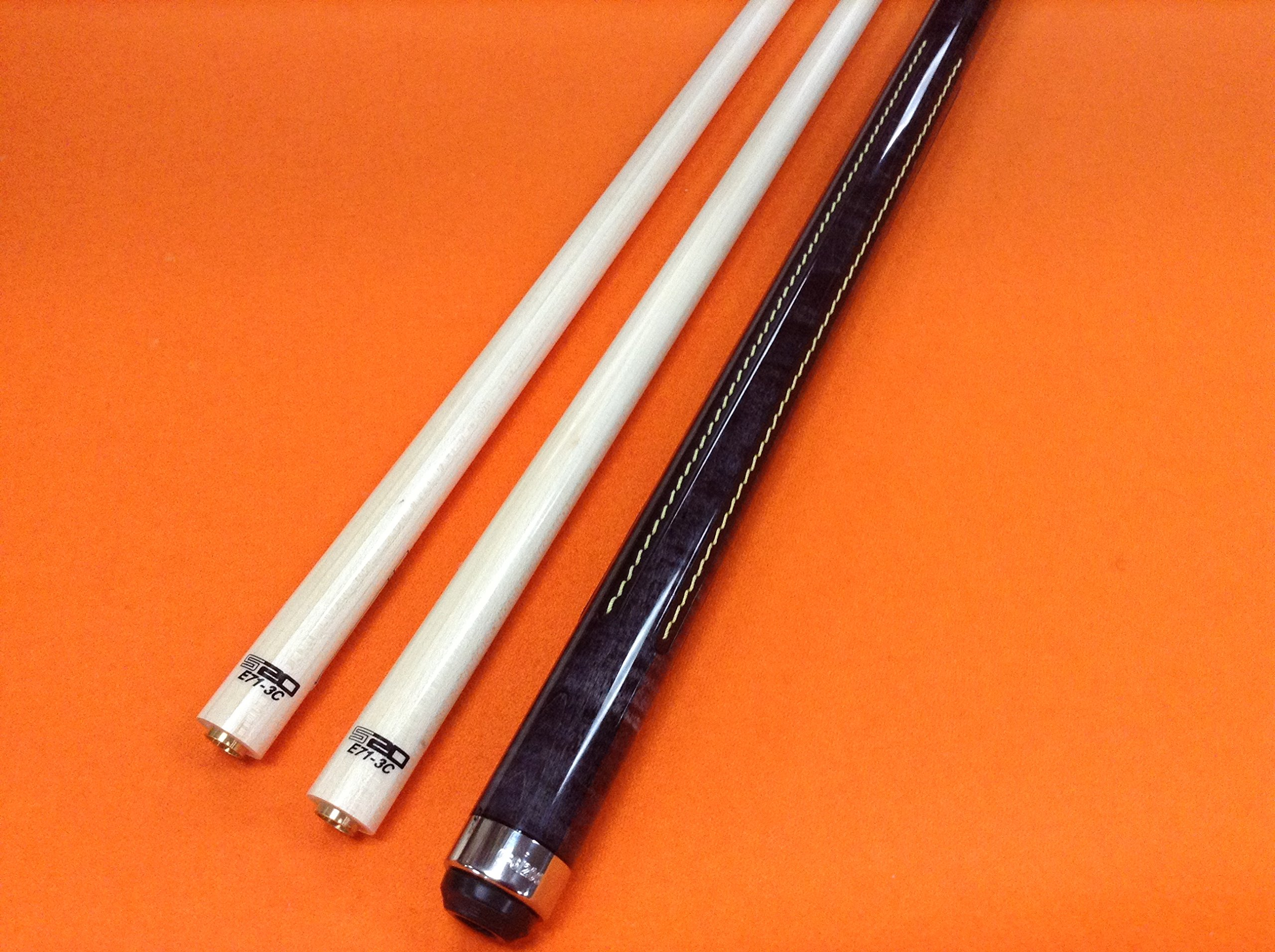 LONGONI CAROM CUE CREMONA CENERE WITH TWO S20 SHAFTS (limited edition)