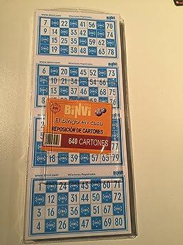 640 cartones de Bingo BINVI  Amazon.es  Juguetes y juegos c195b8630c417