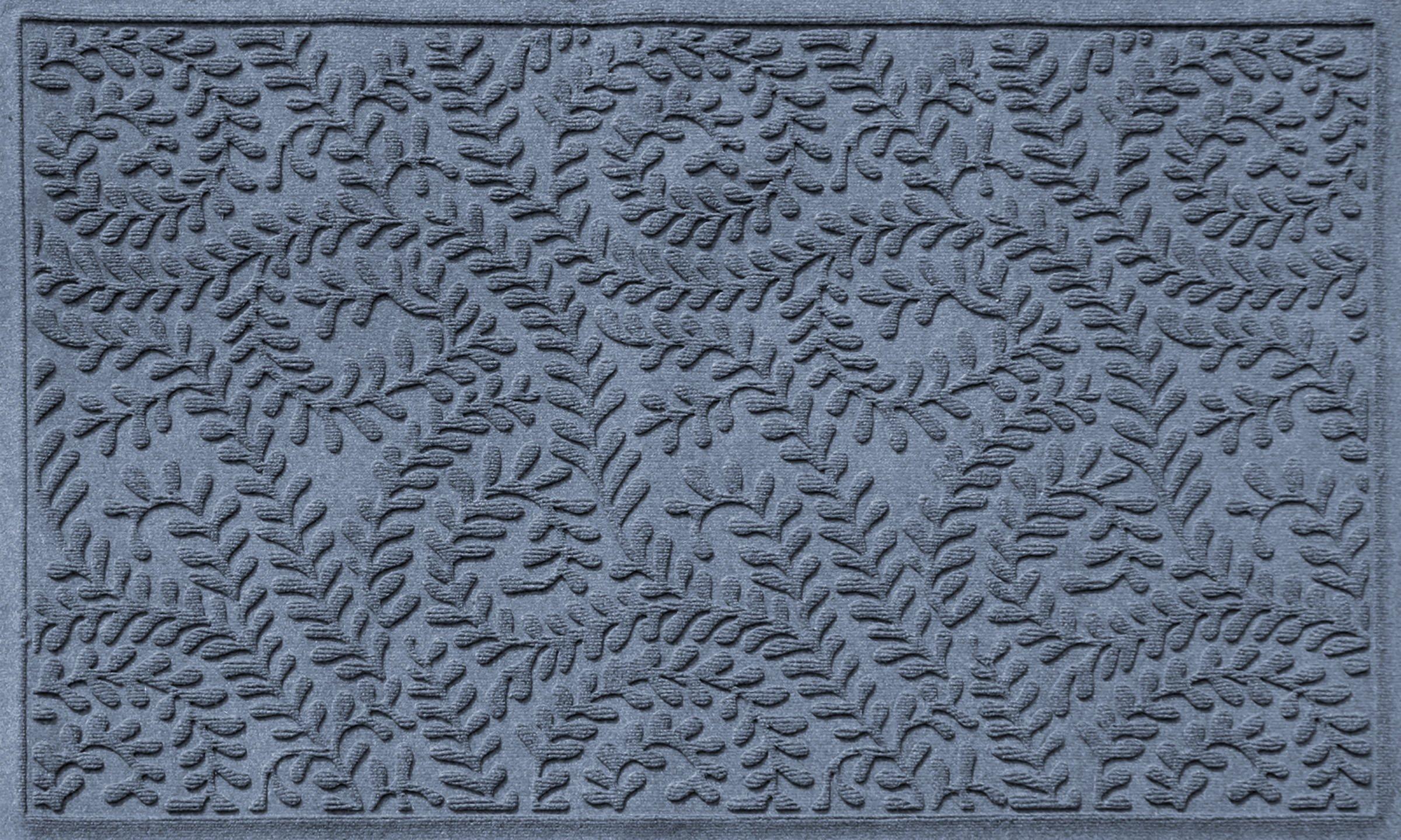 Bungalow Flooring Waterhog Indoor/Outdoor Doormat, 3' x 5', Skid Resistant, Easy to Clean, Catches Water and Debris, Boxwood Collection, Bluestone