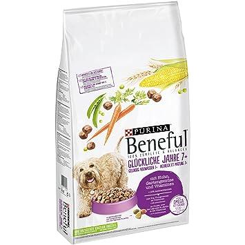 Beneful Purina Perros trockenfutter Felices años 7 + (con Pollo, Jardín Verduras y vitaminas): Amazon.es: Productos para mascotas