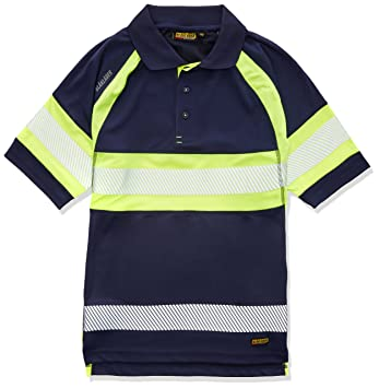 Blakläder 333810518933 X S HIGH-VIS polo Shirt Tamaño en azul ...