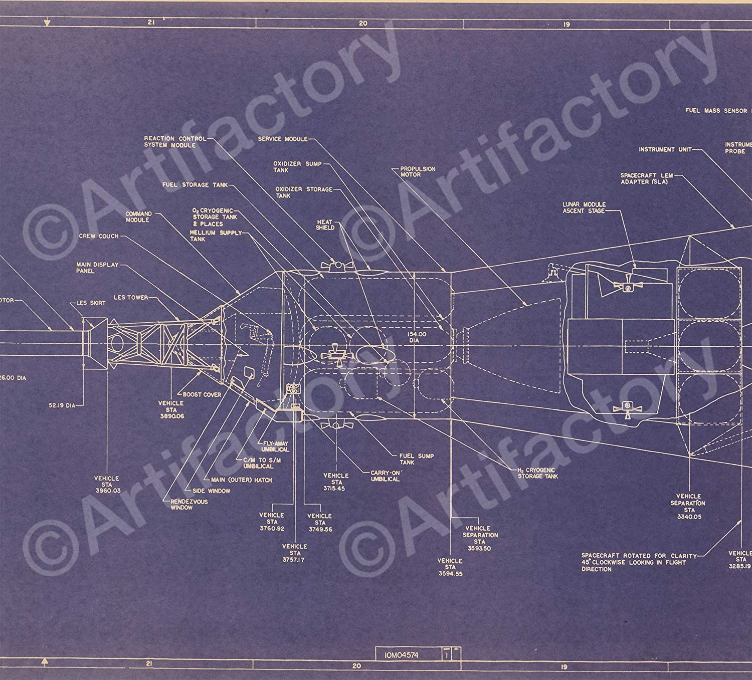 Saturn v 172 scale blueprint amazon home kitchen malvernweather Image collections
