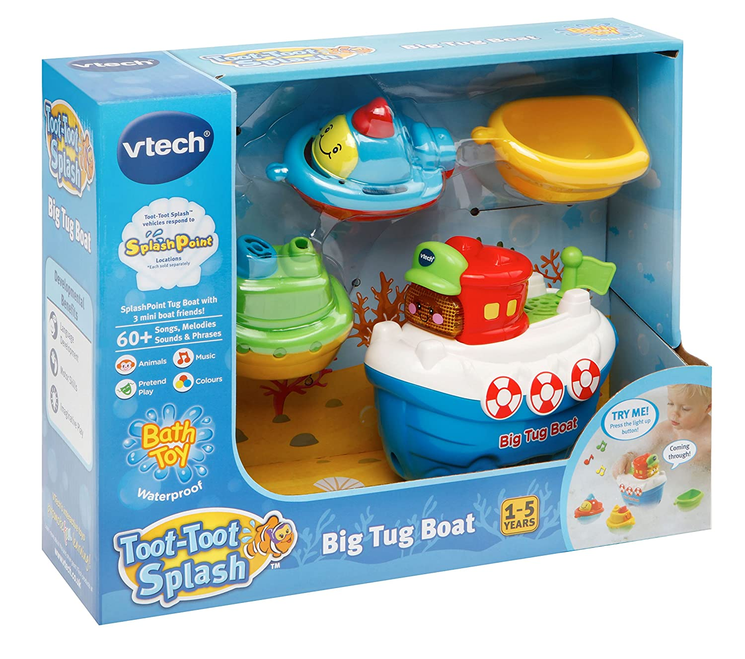 VTech 500303 Toot-Toot Splash Big Tug Boat Toy