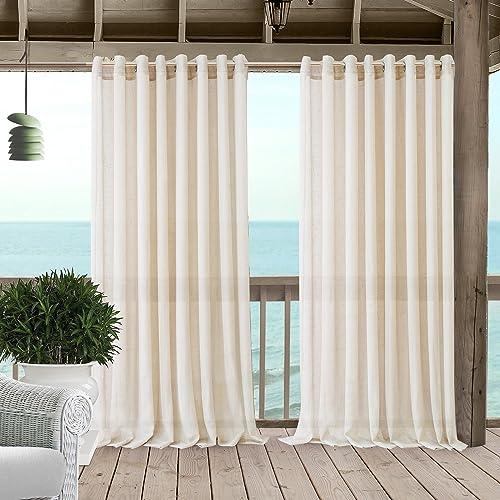 Elrene Home Fashions Carmen Extra Wide Indoor/Outdoor Sheer Grommet Window Curtain Panel