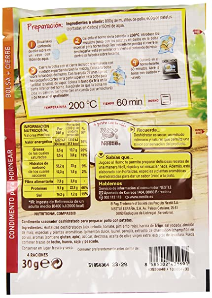 Maggi Jugoso al Horno Pollo Campesina - 30 g: Amazon.es: Amazon Pantry