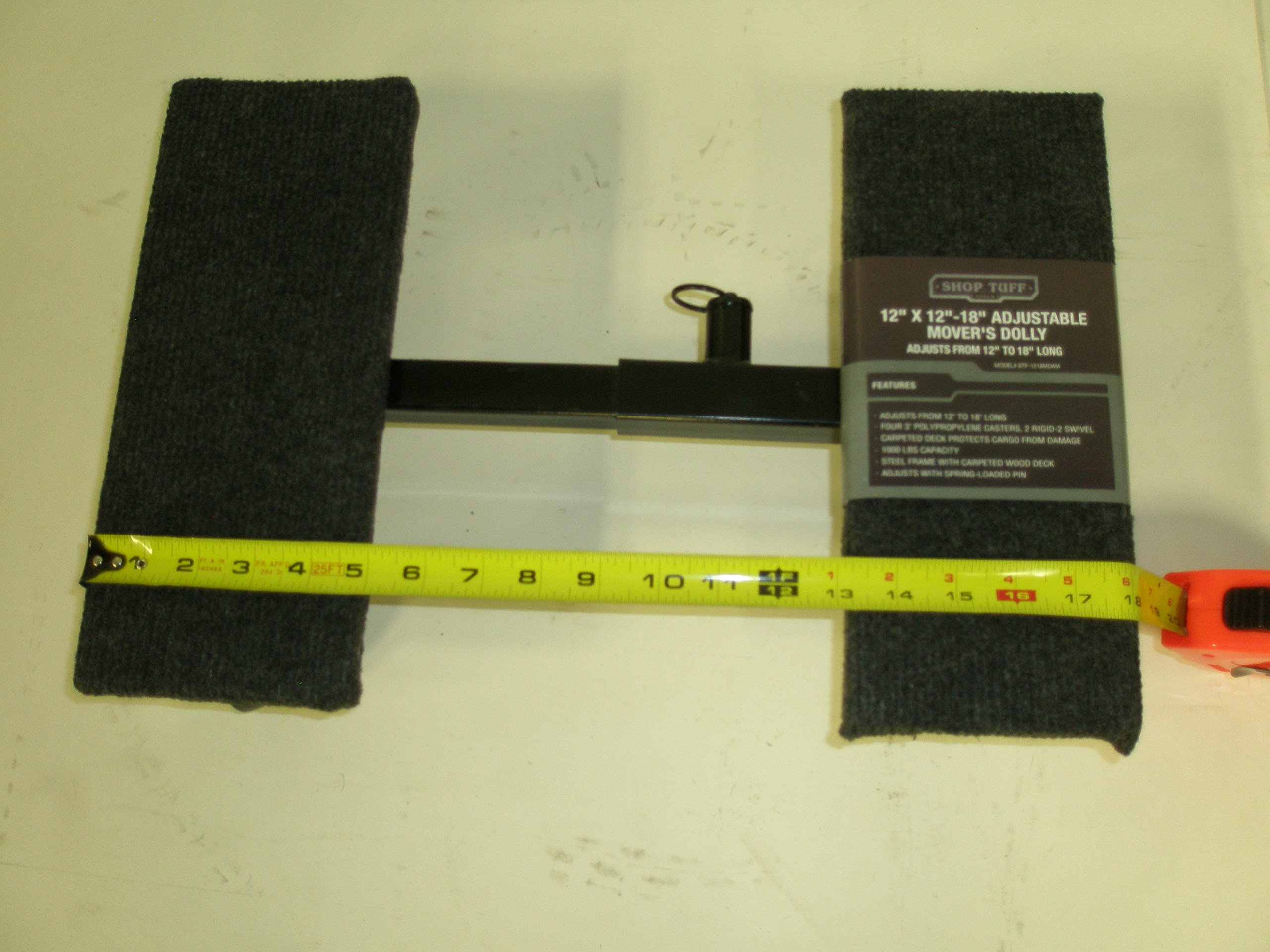 Shop Tuff STF-1218MDAM Adjustable Mover's Dolly, 12'' x 12'' x 18'' by Shop Tuff (Image #4)