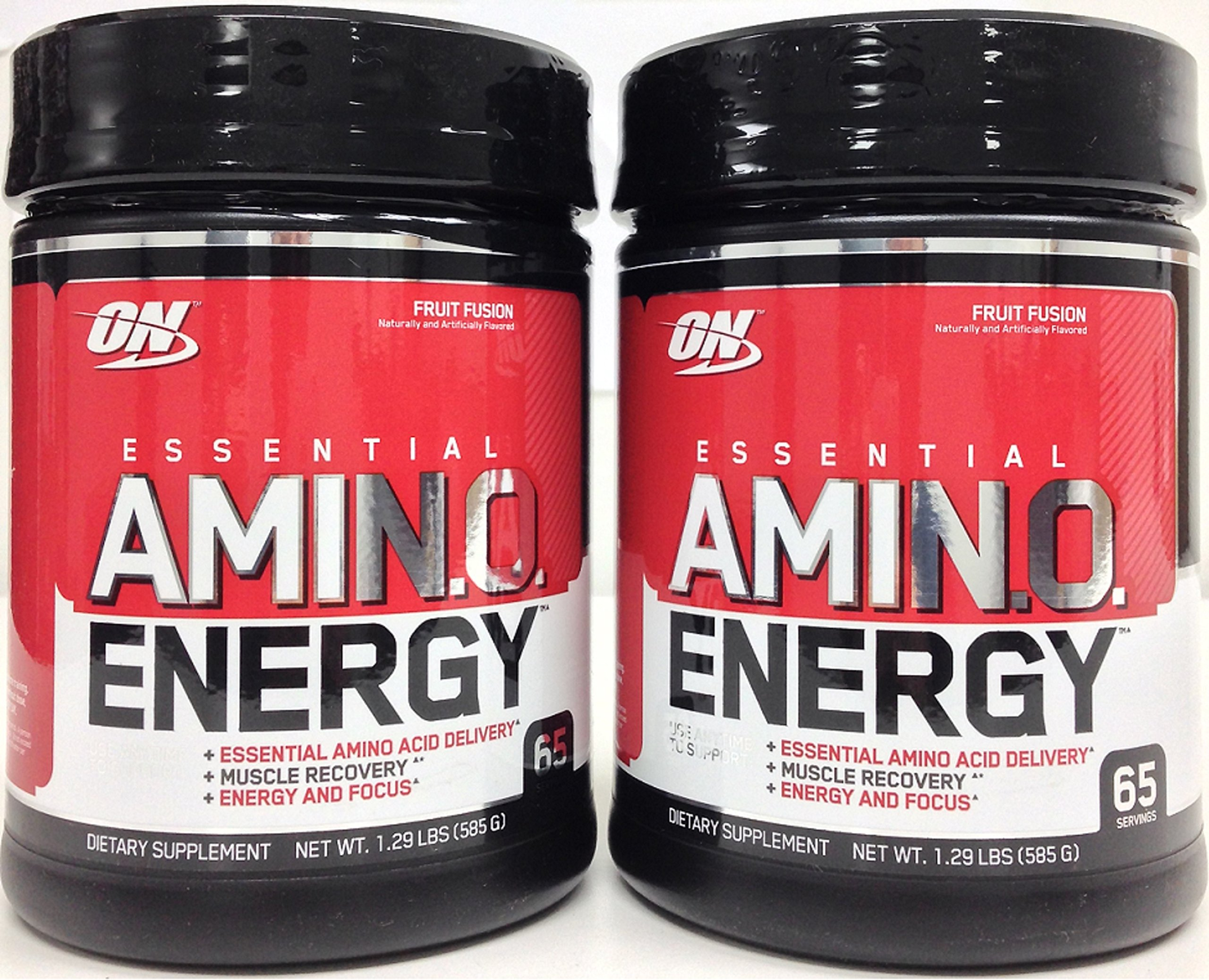 Optimum Nutrition Amino Energy, Fruit Fusion, 65 Servings 2 Packs