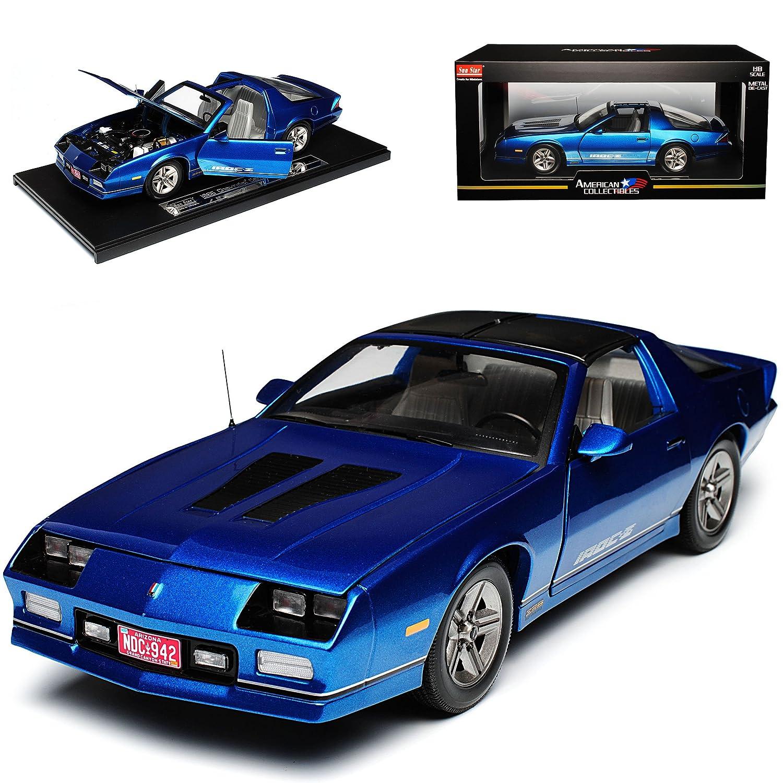 Sun Star Chevrolet Chevy Chevy Camaro IROC-Z Coupe Blau 3. Generation 1982-1993 1 18 Modell Auto B0796GBSWW Motorfahrzeuge Charakteristisch  | Ausgezeichnet (in) Qualität