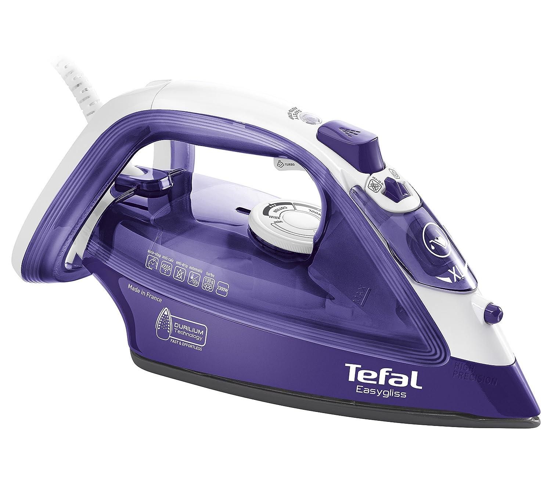 Tefal EasyGliss FV3930 ferro da stiro Ferro da stiro a secco e a vapore Durilium Porpora Bianco 2300 W