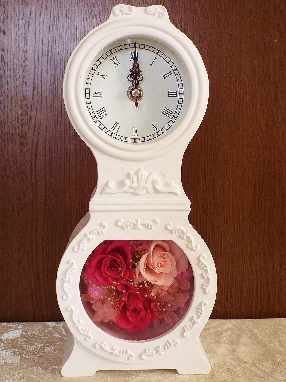 プリザーブドフラワーLira 花時計 ピンク ギフト インテリア B01L972DAM