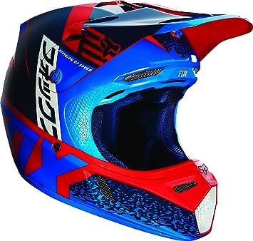 Fox Racing divizion Hombre V3 – Casco de Moto de Motocross ROJO
