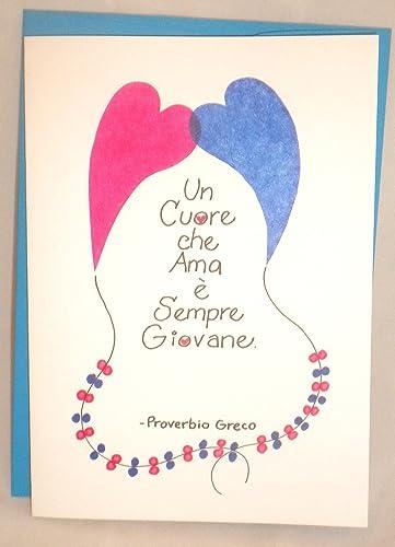 Birthday Handmade Greeting Cards In Italian