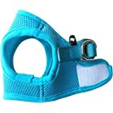 FUNPET Soft Mesh Classic Dog Harness Vest No Pull Comfort Padded for Small Pet Cat and Puppy Solid Color