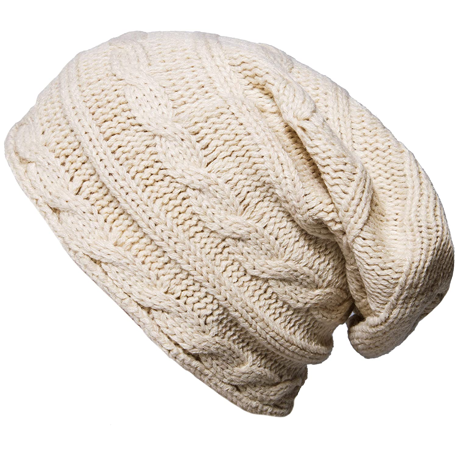 Oryer Winter Knit Slouchy Beanie Baggy Warm Soft Chunky Cable Hats Women Men CLO-061-1