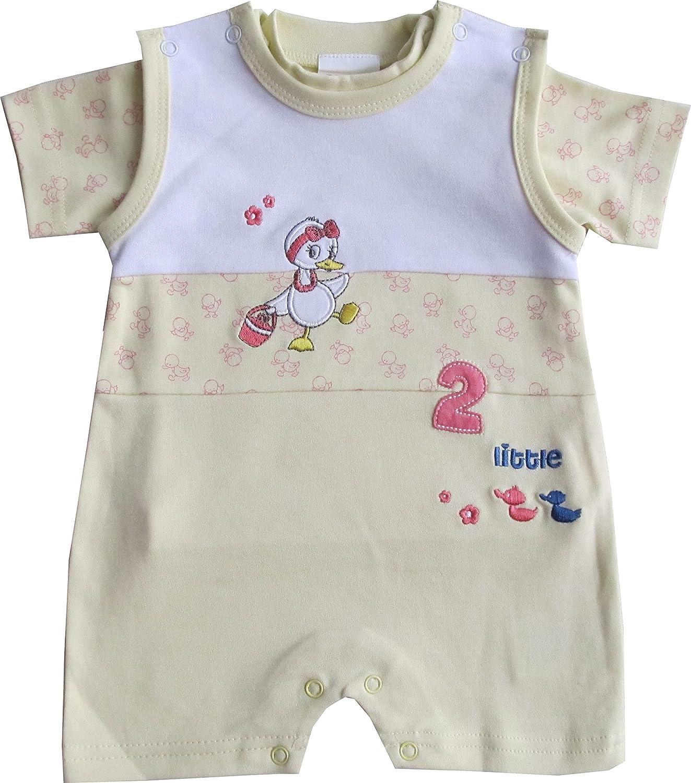 Schnizler Baby - Mädchen Spieler Set Interlock Lotti 2 tlg. mit T-Shirt Gr. 68 Gelb (original 900) Playshoes GmbH 15430043