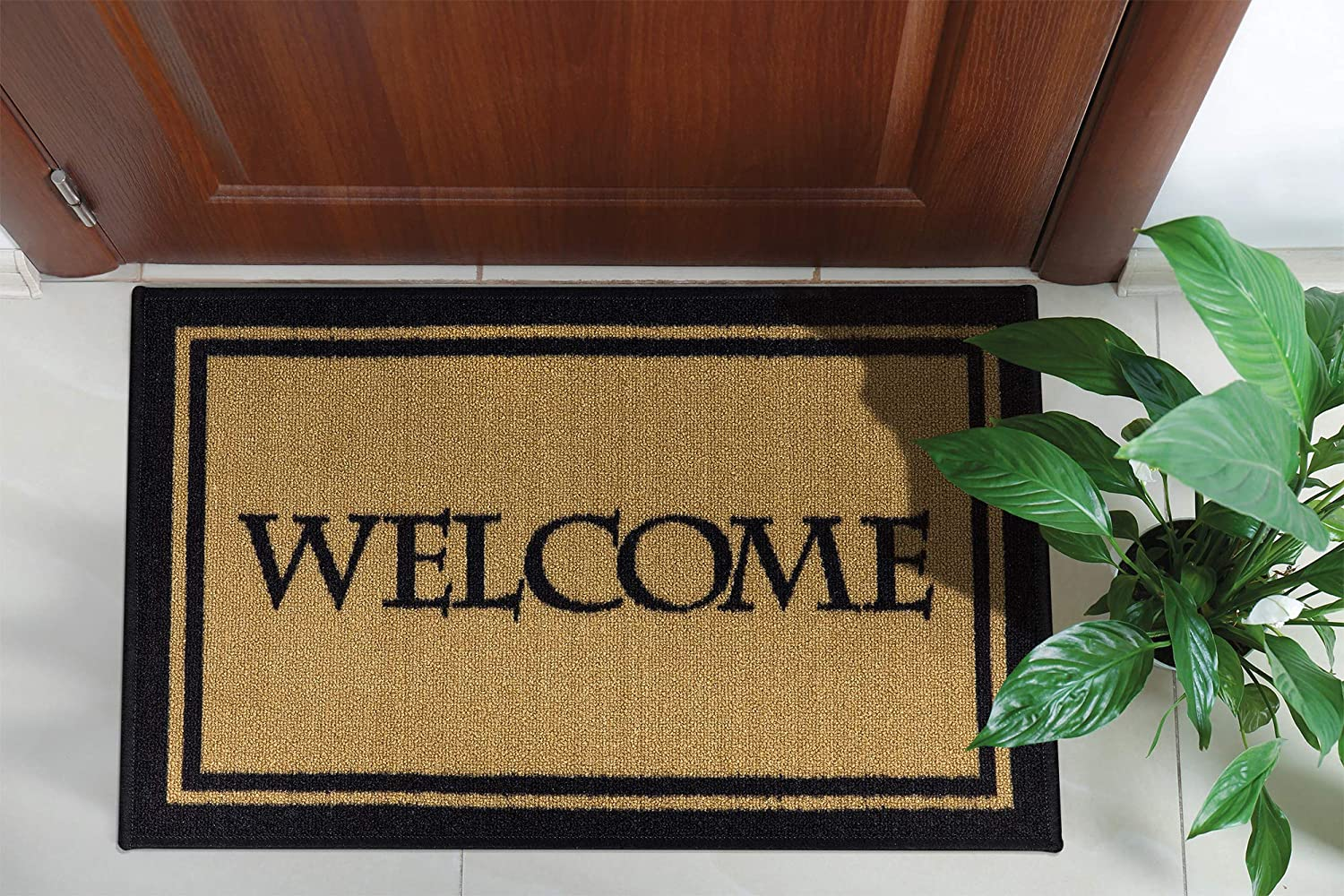 Ottomanson USA Rugs Collection Rectangular Home Doormat, 20