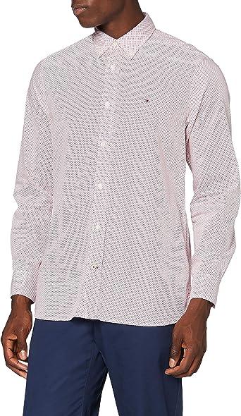 Tommy Hilfiger Micro Bandana Print Shirt Camisa para Hombre: Amazon.es: Ropa y accesorios