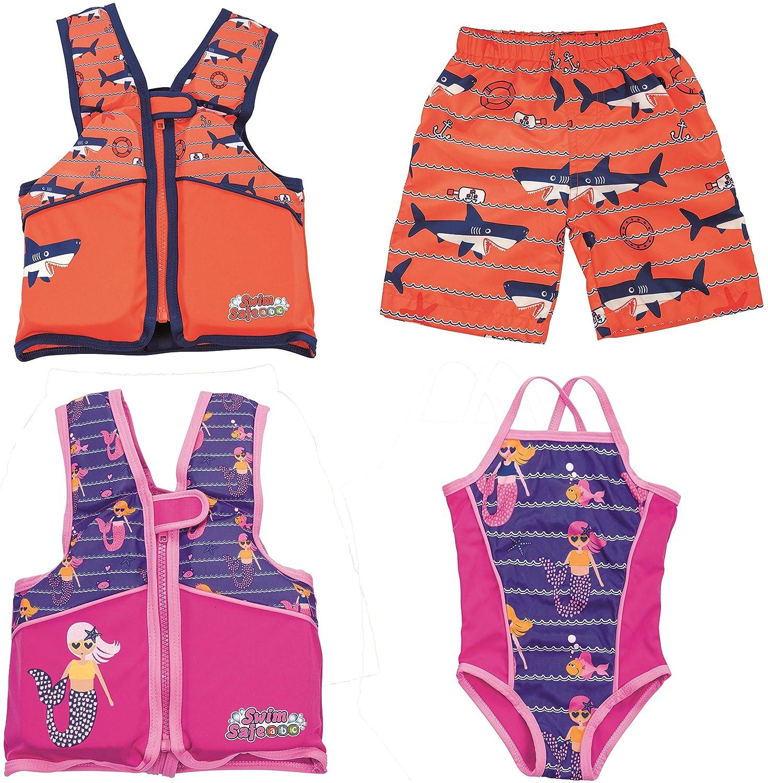 S//M sortiert mit Textilbezug f/ür Kinder 1-3 Jahre Bestway Swim Safe Schwimmweste
