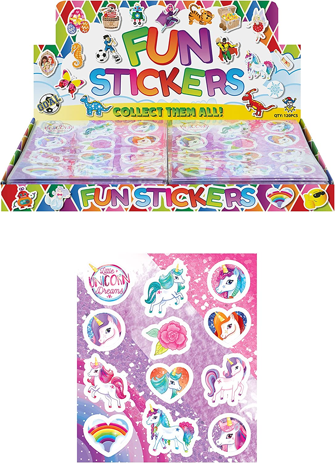 1 pre-filled Unicorn themed sparkle Party bag contain stickers gliders,.....