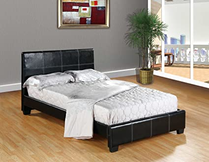 Home Life Leather Platform Bed With Slats Full Complete Bed 5 Year Warranty Included Amazon In Home Kitchen
