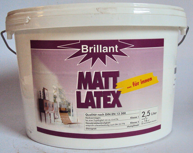 Brilliant Matt Latex Suitable for Box / 2.5 Litres Brillant