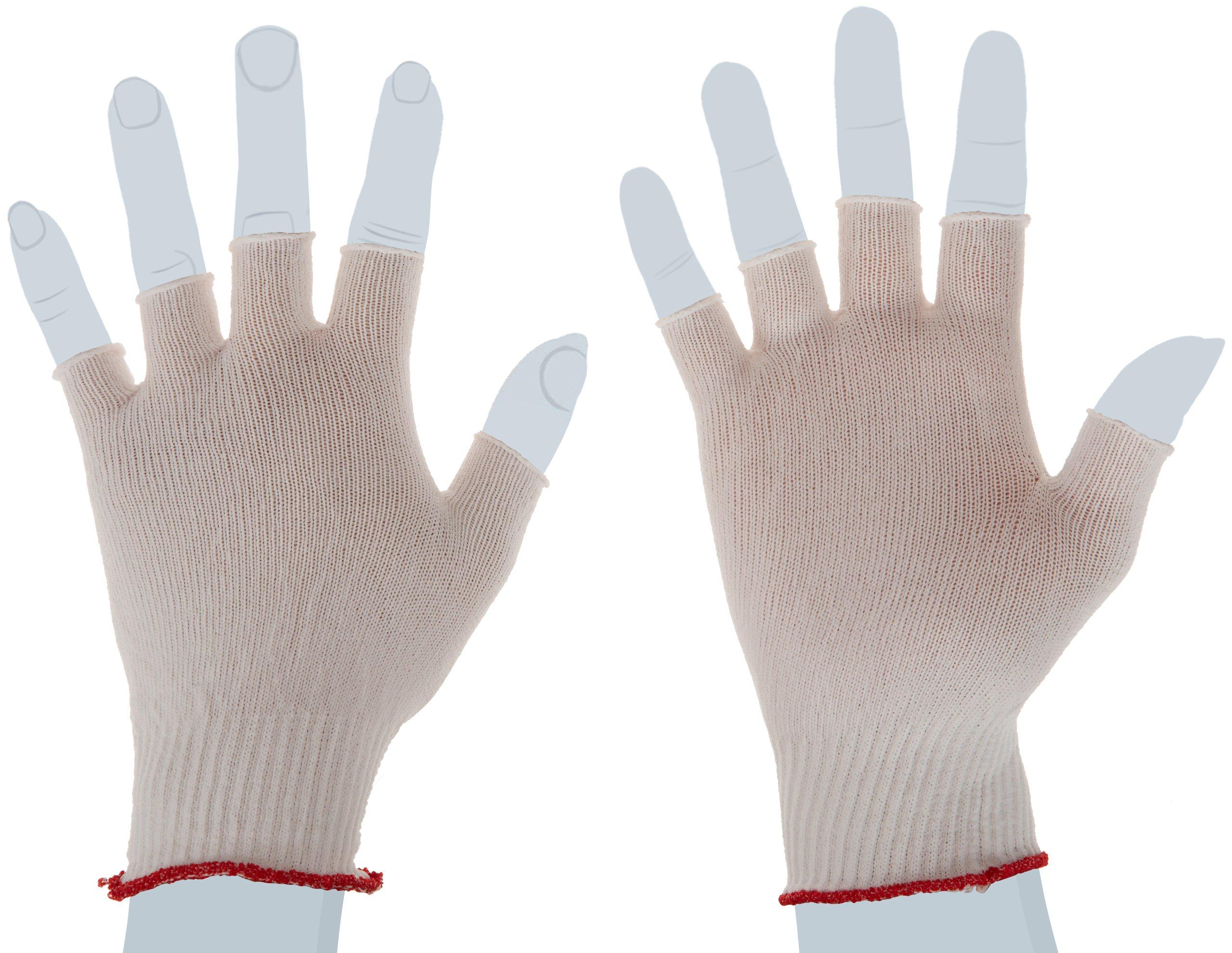 Berkshire BCR Nylon Half-Finger Glove Liners SK, Small Bulk Size (Bulk Pack of 200 Pairs)