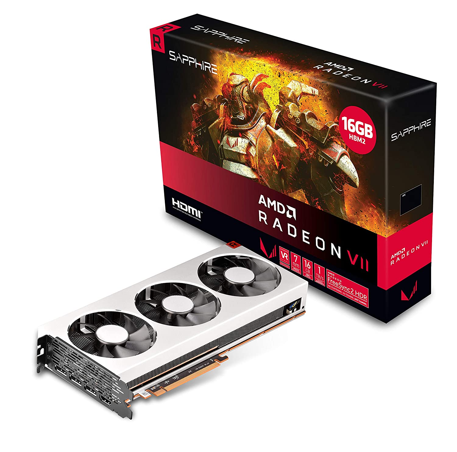 PCI-E Graphics Card UEFI Sapphire Radeon VII 16GB HBM2 HDMI// Triple DP