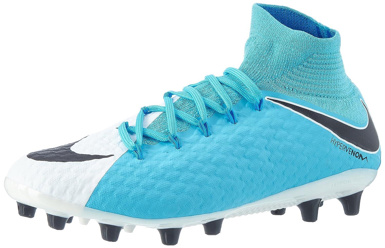 Nike Herren Hypervenom Phatal Iii DF AG-Pro Fuszlig;ballschuhe  41 EU|Blau (White/Black-photo Blue-chlorine Blue)