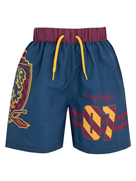 50e6e552a5 Harry Potter Boys Gryffindor Swim Shorts Ages 4 to 13 Years: Amazon ...