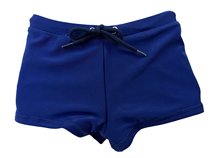 ac80af6975 SwimZip¨ Little Boy Euro Short Swim Trunk Swimsuit Bottoms UPF 50+ Navy 6-