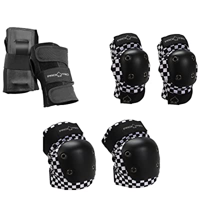 Pro-Tec Black Checker Junior 3 Pack YS : Sports & Outdoors