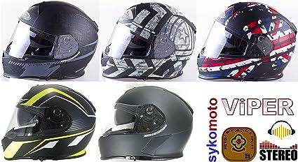 Amazon.es: Viper nuevo RS V8 estéreo RAZR Integral casco ...