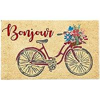 DII Welcome Home Natural Coir Doormat, Indoor/Outdoor, 18x30, Bonjour