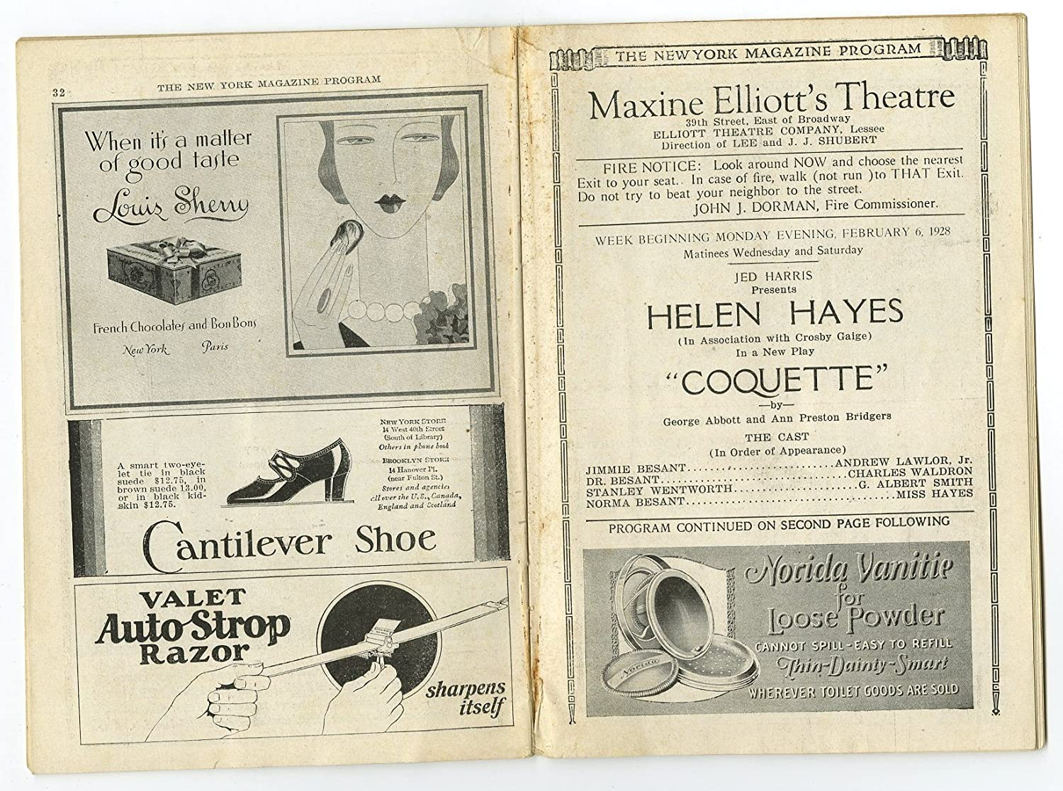 Coquette - Vintage Playbill - Elliotts Theatre, New York ...