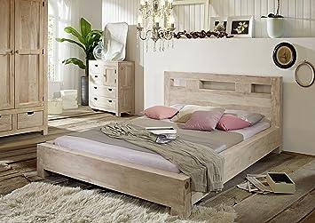 Bett 140x200 holz massiv  MASSIVMOEBEL24.DE Massivmöbel Akazie Bett 140x200 Holz Möbel massiv ...